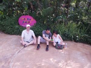 Matt, Pete and Huang Ying